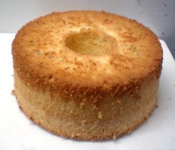 レモンとミントのシフォンケーキ