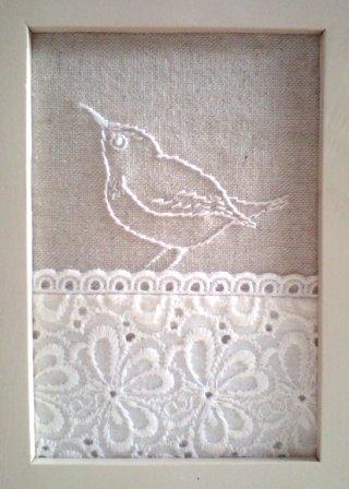 メジロ刺繍