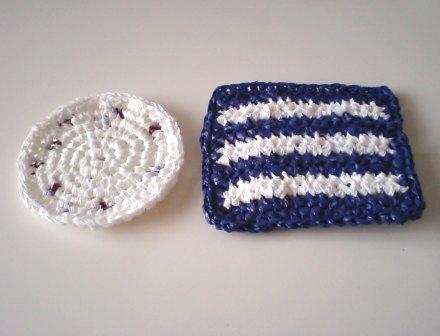プラバッグ裂き編みコースター