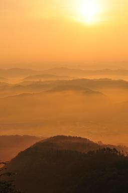 佐用の朝霧