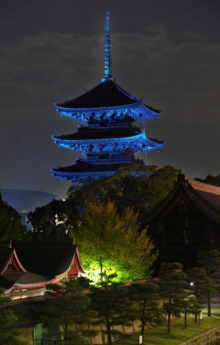 東寺の五重塔2