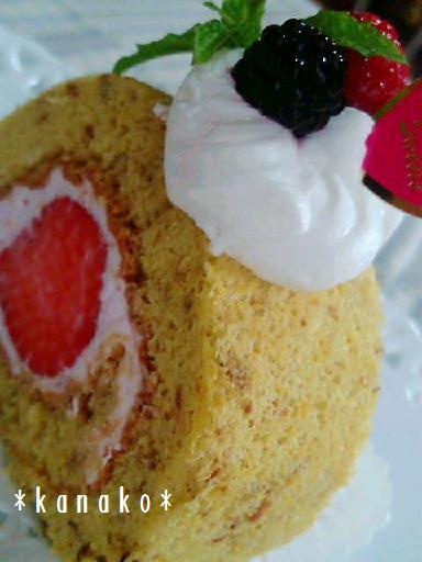 1aaa薔薇のロールケーキ5