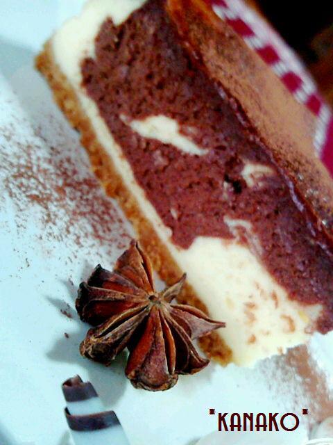 1a1アニス風味のチョコレートチーズケーキ3