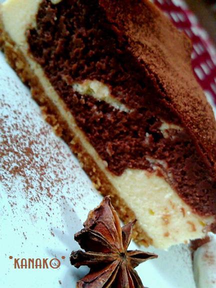 1a1アニス風味のチョコレートチーズケーキ1