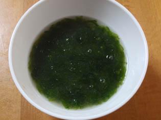 青さのり 味噌汁