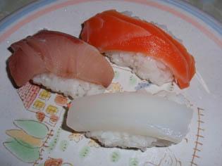 お寿司 三つ