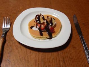 ホットケーキ 朝ごはん