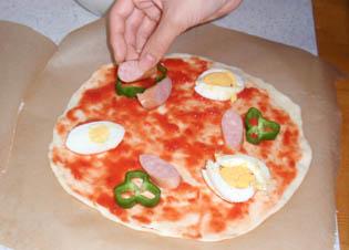 ピザ作ってるところ