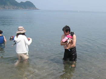 いきなり海へ