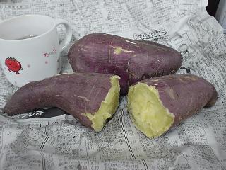 レンジでチンしたサツマイモ