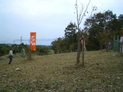 比良川の土手をきれいにする運動