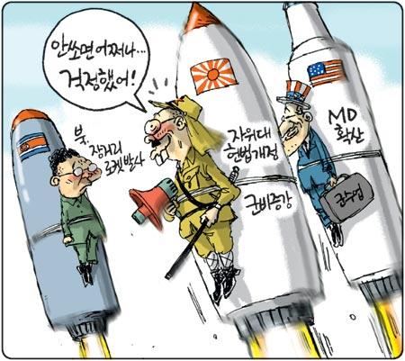 京郷新聞2009年4月5日の漫画
