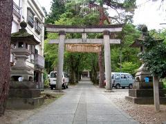 浅原神社の参道前