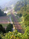 塚山峠から俯瞰の長鳥 面白そうだが気象条件等で霞んでしまうかも・・・