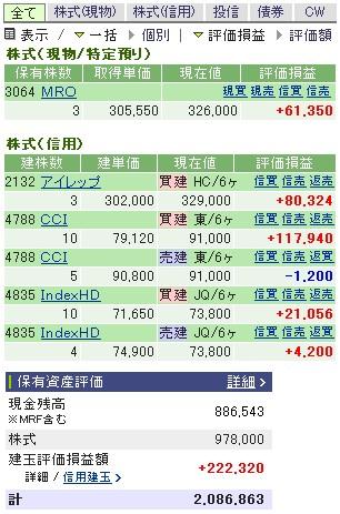 2007-01-17の株売買状況です。
