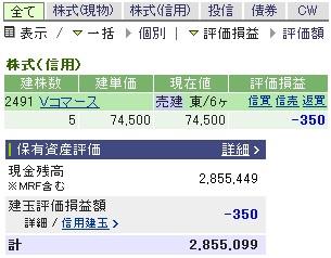 2007-03-20の株売買状況です。