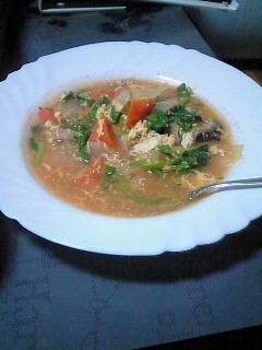 野菜スープトマト風味
