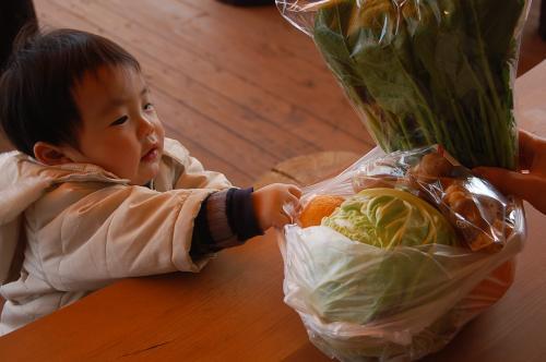 お野菜調達