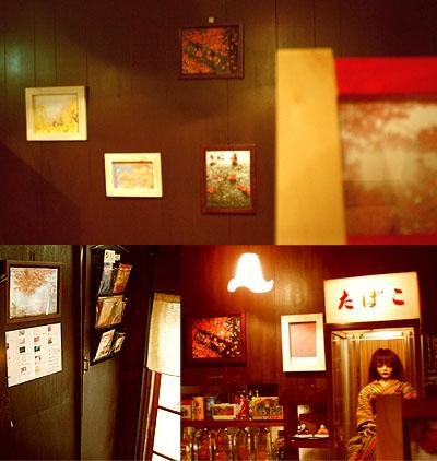 さくらつばきカフェ展示風景
