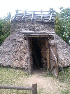 竪穴式住居の復元
