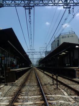 田舎っ気溢れる駅