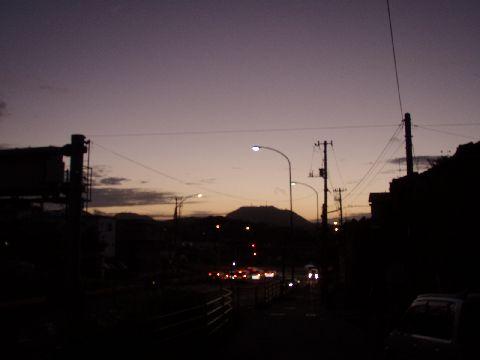 出発~の朝焼け