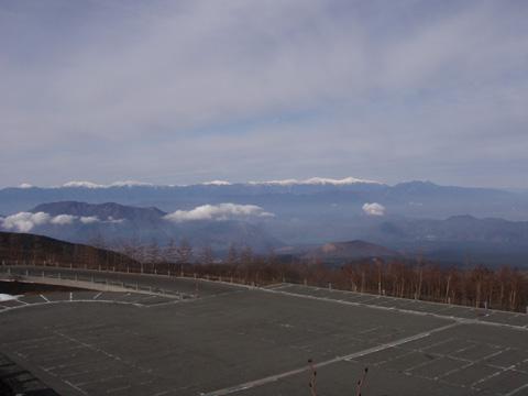 富士山5合目から観る南アルプス