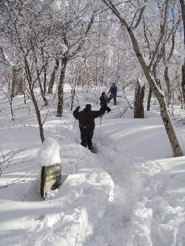 カンジキで登る…撮影 quickturnさん