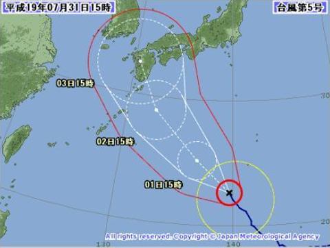 2007.台風5号