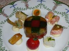 魚介と季節の野菜のゼリー寄せ