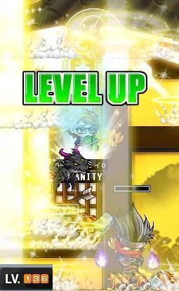 136レベルUPる☆