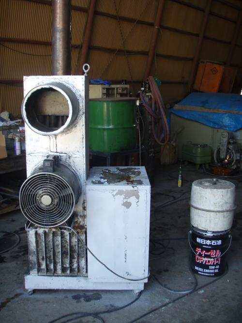 グリセリン燃焼暖房装置