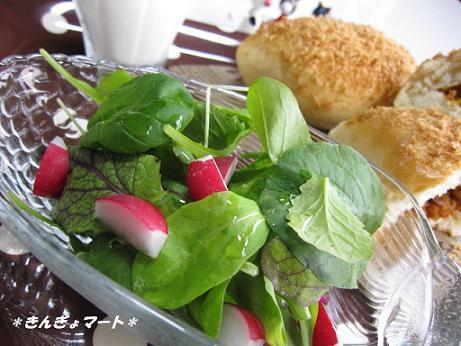カレーパンとサラダ