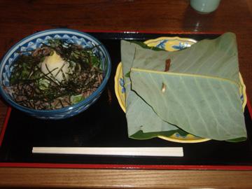 ほう葉鮨+そば