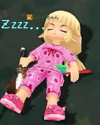 寝てるんです・・・