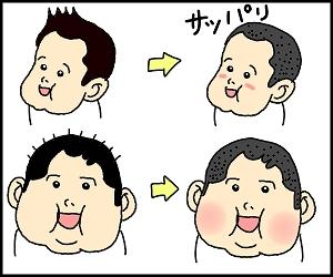 髪サッパリ1