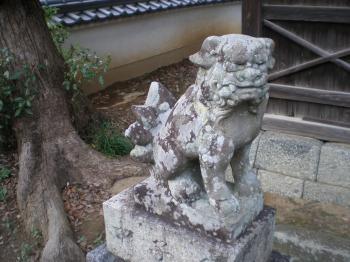 明日香 大原神社 狛犬