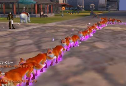 お狐様の行進ですw