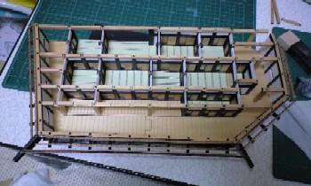 一階南側桁仮組み2