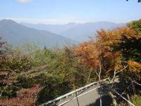 富士見峠より南アルプスを望む