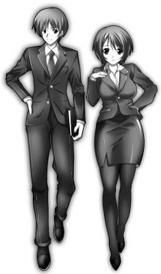 スーツ男&女
