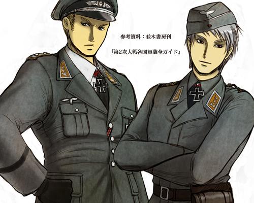 【ヘタリア】軍装ルートヴィッヒ&ギルベルト顔アップ