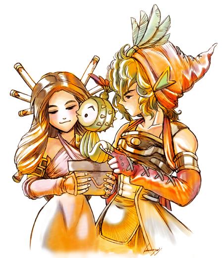 【聖剣LOM】主人公とサボテン君-カラー-