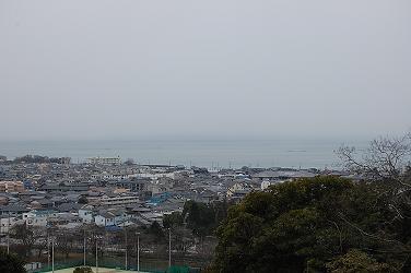 琵琶湖が見下ろせます。