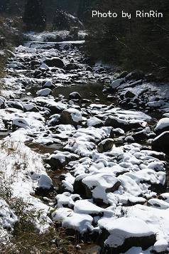 川の水も冷たそう・・