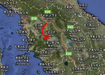 シエナ地図