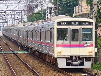 No.14 7421F+7008F 各停新宿行