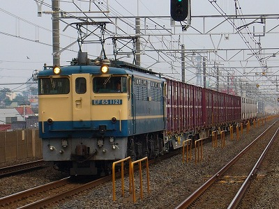 76レ EF65-1121+コキ