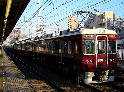 6016F+7027F 通勤特急梅田行