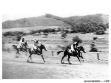 1954(昭和29)の盛岡競馬場のレース風景